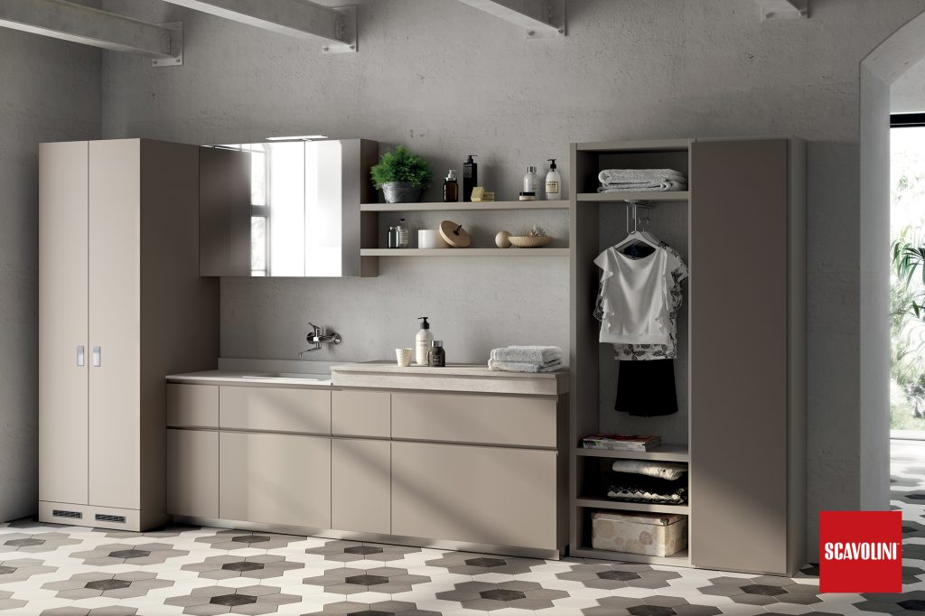 vitaitaliana scavolini designer bathroom with shelfing space