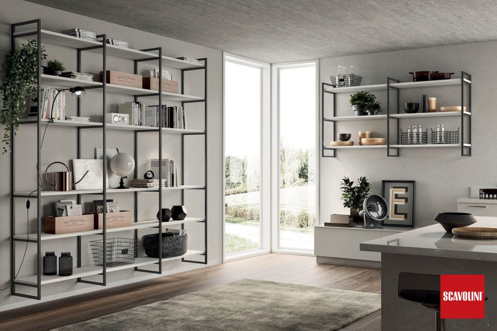 vitaitaliana designer living furniture by scavolini - shelf system