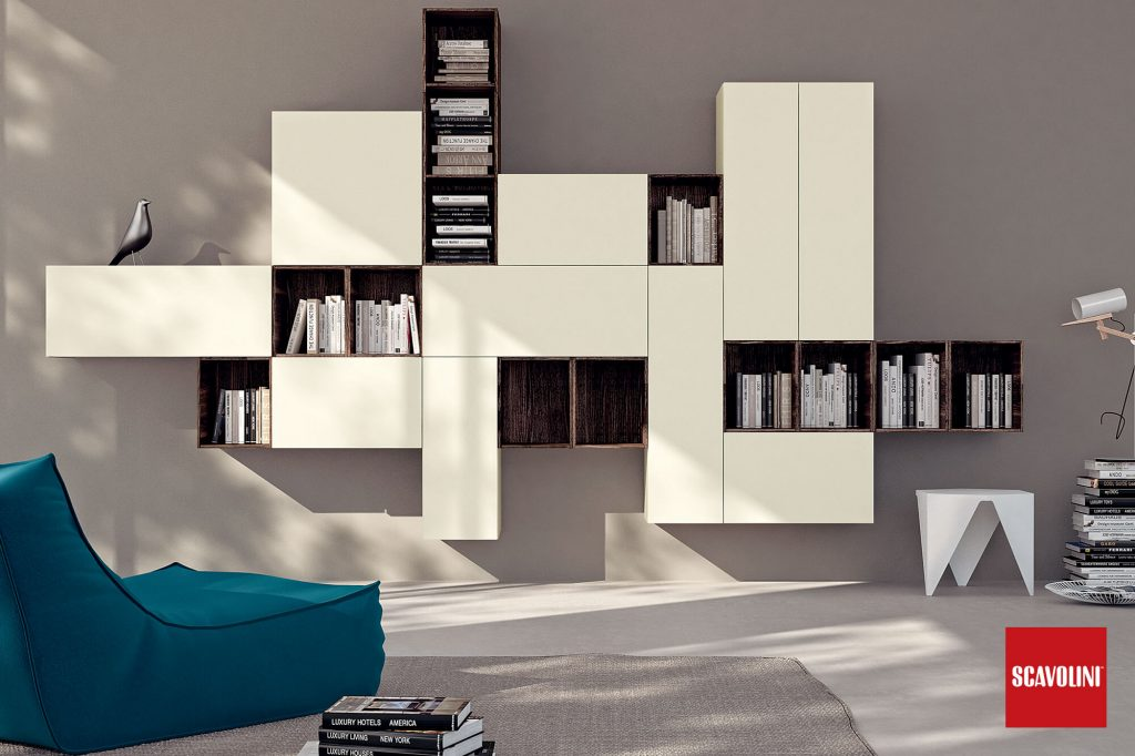 vitaitaliana luxury scavolini living - LIBERAMENTE collection - shelfing