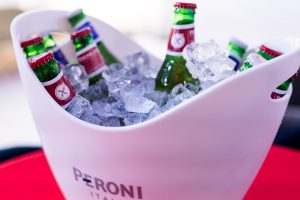 Peroni in ice bucket