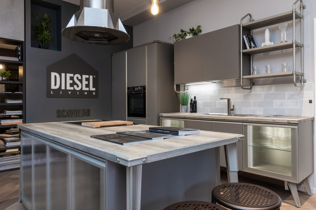 luxury modern kitchen and island