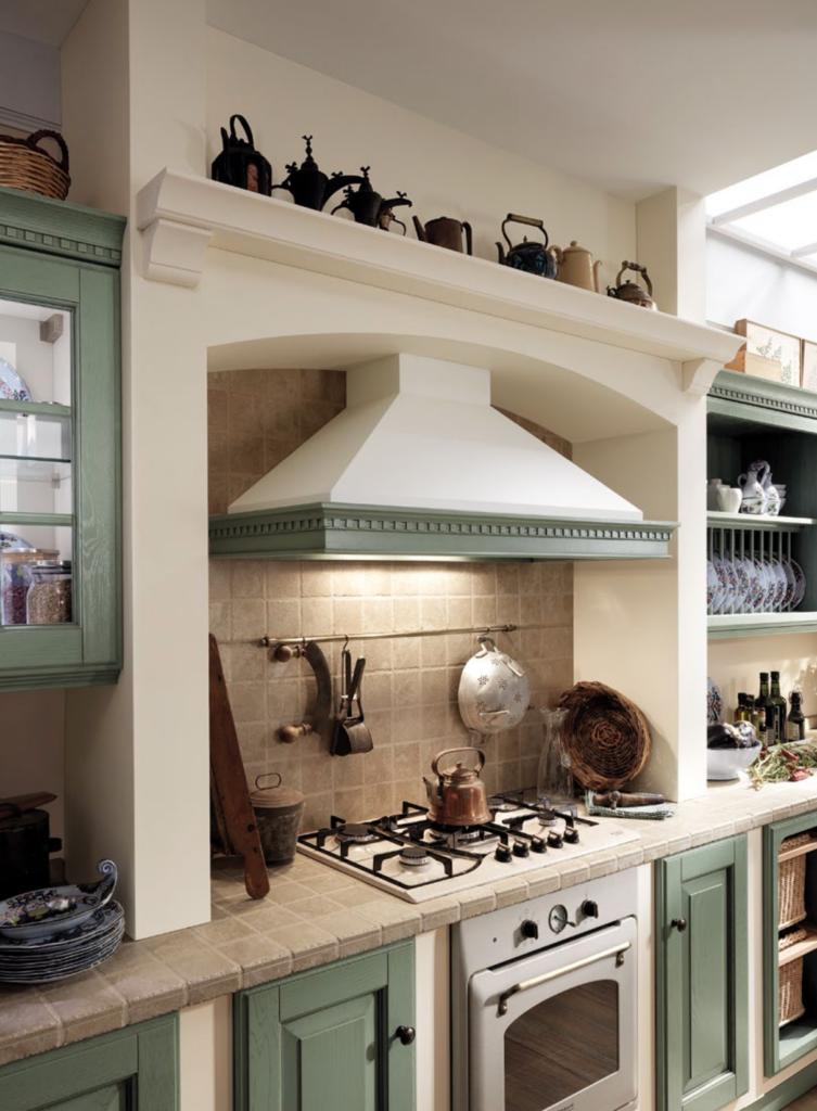 luxury green kitchen