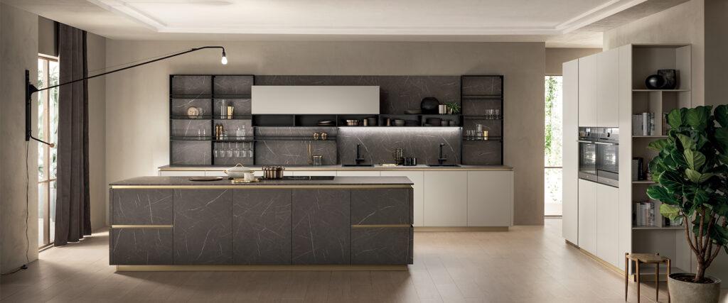 luxury kitchen and island
