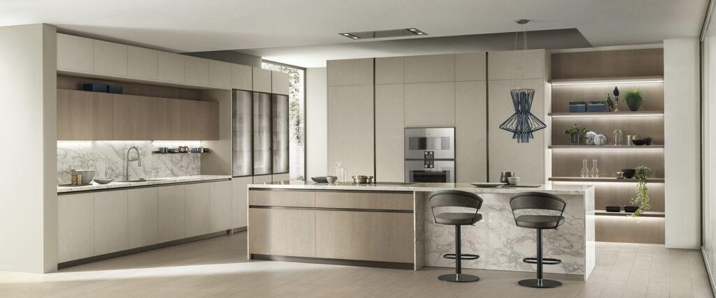 luxury marble kitchen