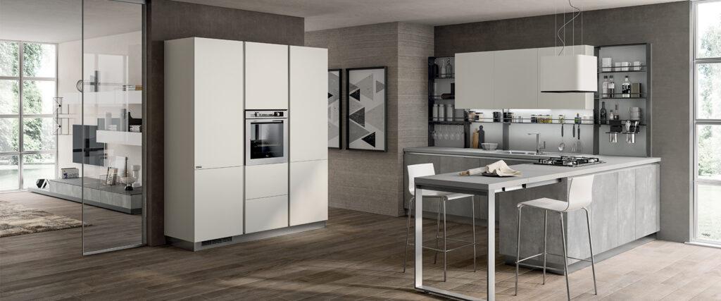 luxury modern kitchen and sitting