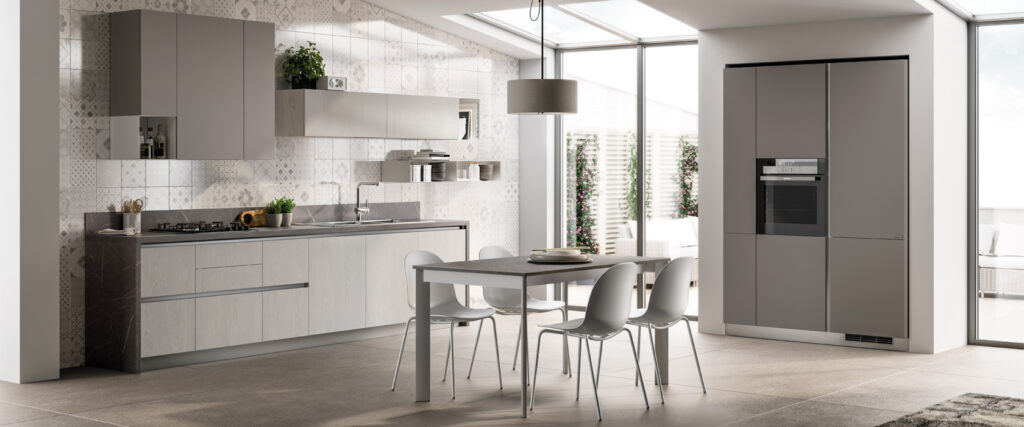 luxury modern kitchen and dining room
