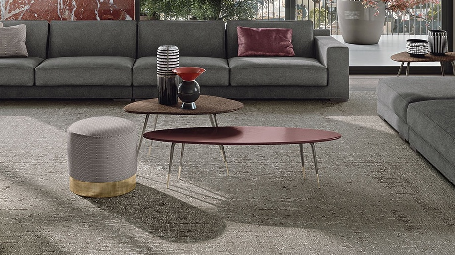 modern red coffee table