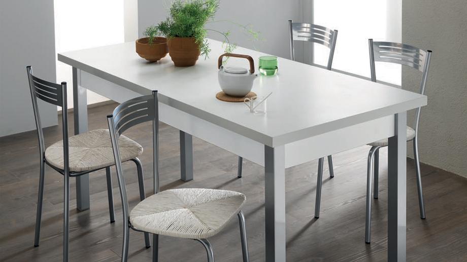white modern family dining table