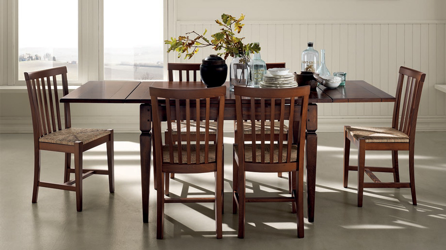 Wooden family dining table